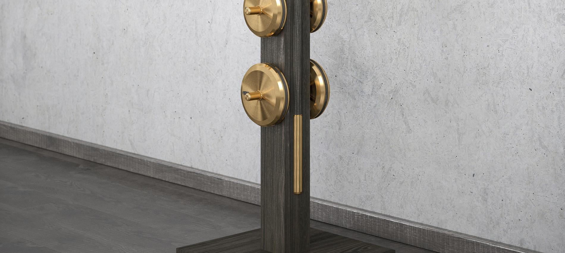 LESNA luxury barbells set with black woo