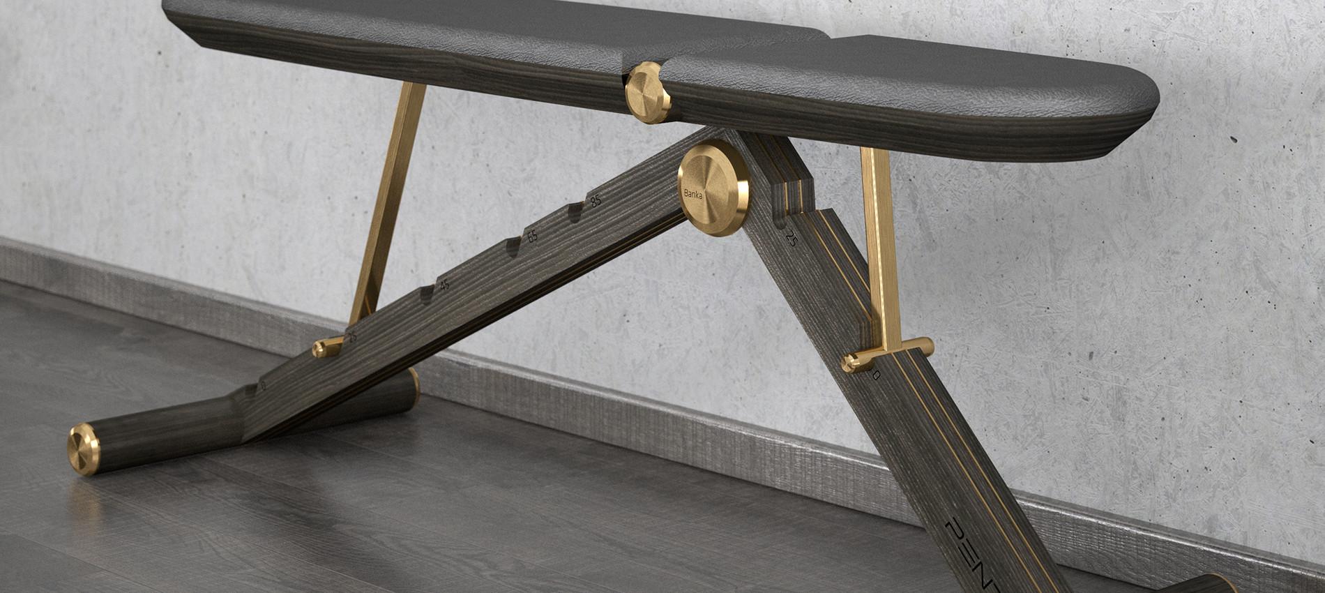 BANKA luxury weight bench with bronze.jp