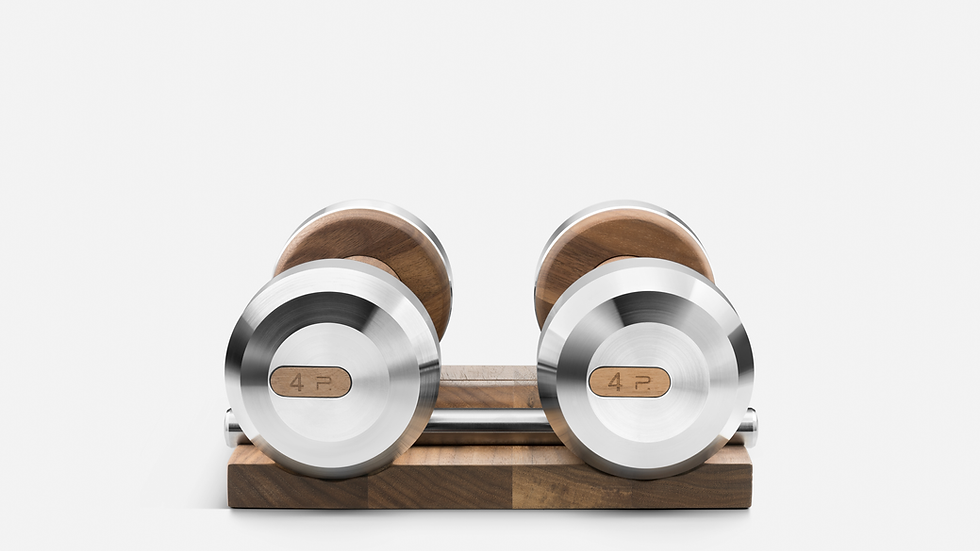 COLMIA™ Dumbbells With Solid Wood Stand