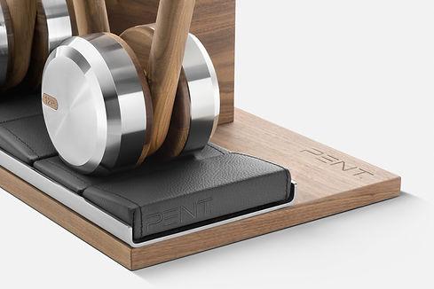 bespoke custom kettlebells set with rack