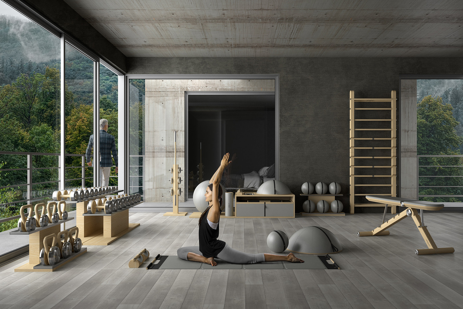 PENT. Home Yoga Fitness Room