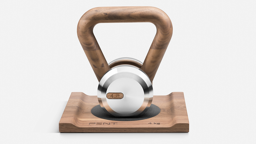 LOVA™ Luxury Kettlebell With Solid Wood Stand