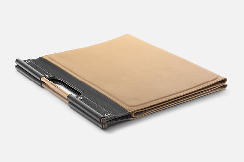 genuine leather exercise fitness mat pen