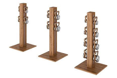 PENT LOVA Kettlebells Vertical Rack Silv