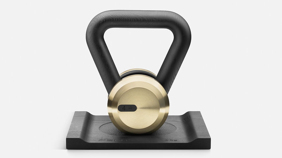 LOVA™ GOLD Luxury Kettlebell With Solid Wood Stand