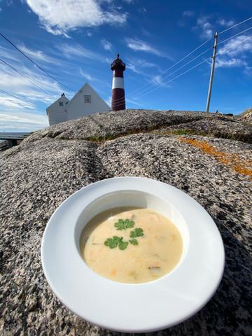 Fiskesuppe til lunch