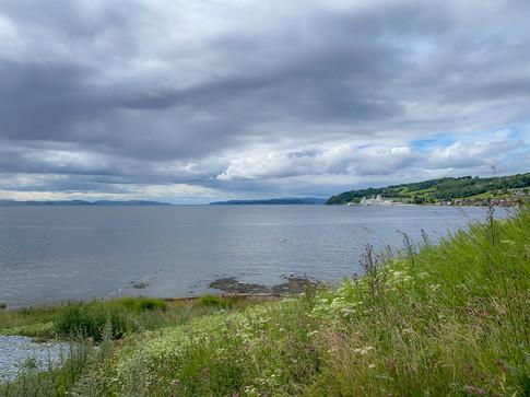 Utsikt fra Koa camping mot Inderøy