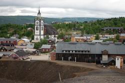 Bybilde med Smelthytta og Røros kirke