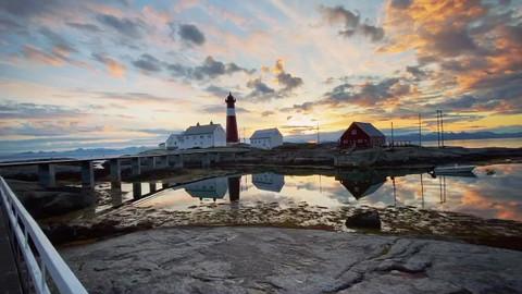 Kveldsstemning på Tranøy Fyr
