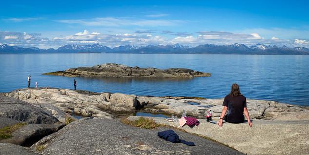 En dag med familien på Tranøy Fyr