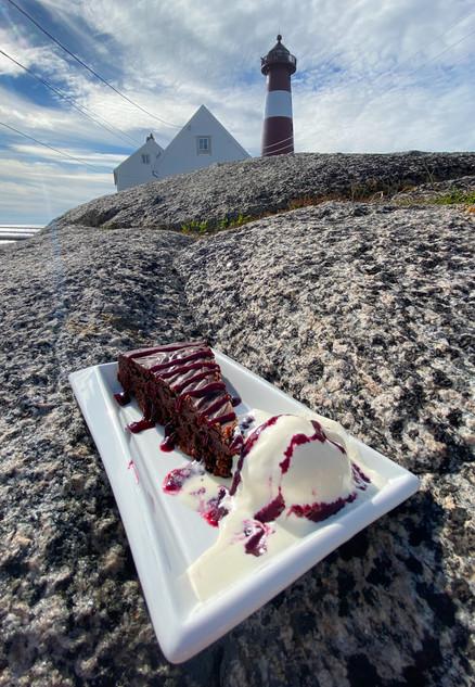 Sjokoladekake med is