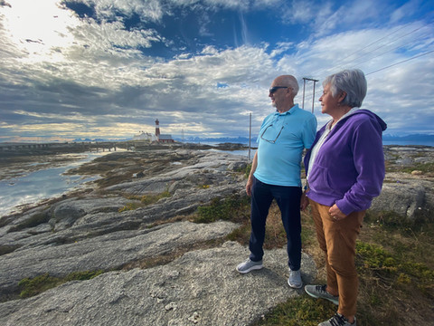 Møtte Helge og Sigrid på Tranøy fyr
