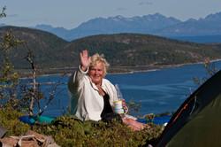 Teltplass mot Lofotveggen