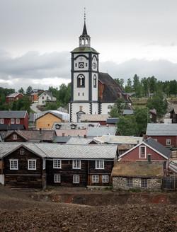 Bybilde med Røros kirke
