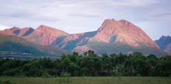 Området er omringet av flotte fjell