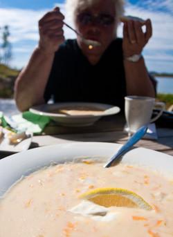 Fiskesuppe på Alstadhaug