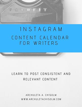 Instagram Content Calendar for Writers