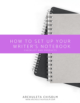 How to Set Up Your Writing Notebook