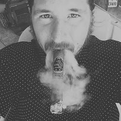 Enjoying a smoke