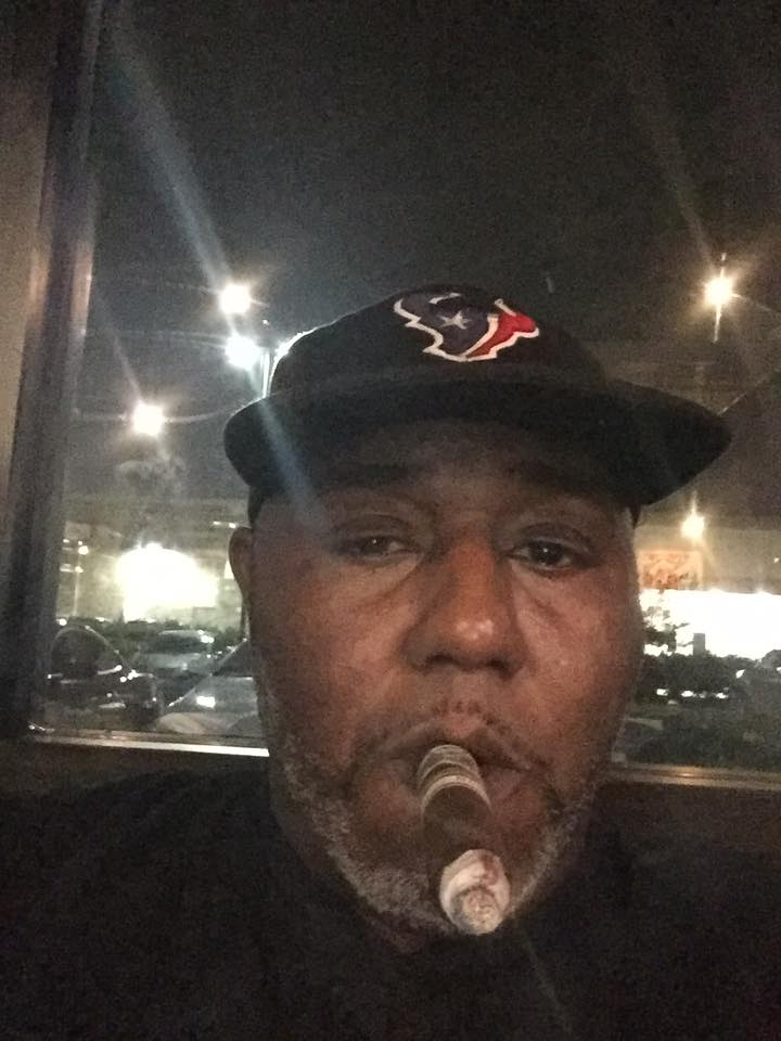 Texan Fan Enjoying a Smoke