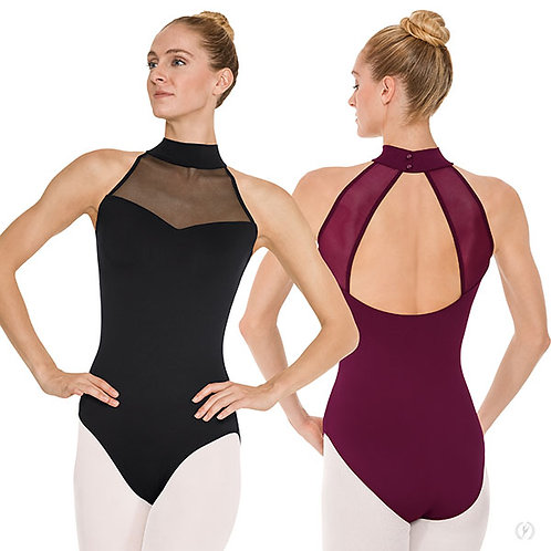 Women's Silhouette Mesh Sweetheart Neck Leotard