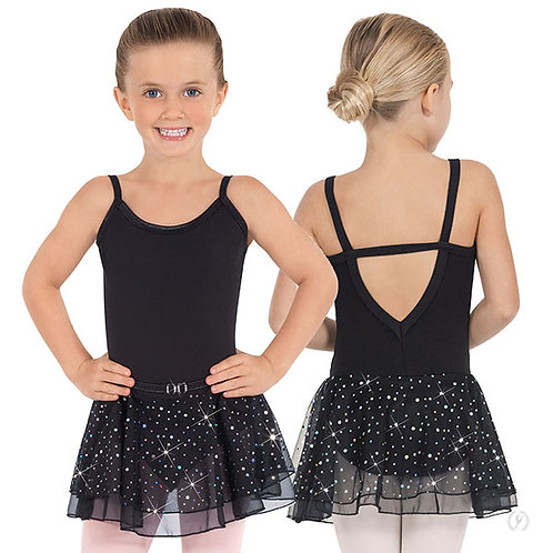 Girls Sequined Skirt Camisole Dance Dress