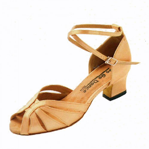 Ballroom Shoes 8.5 Tan Satin