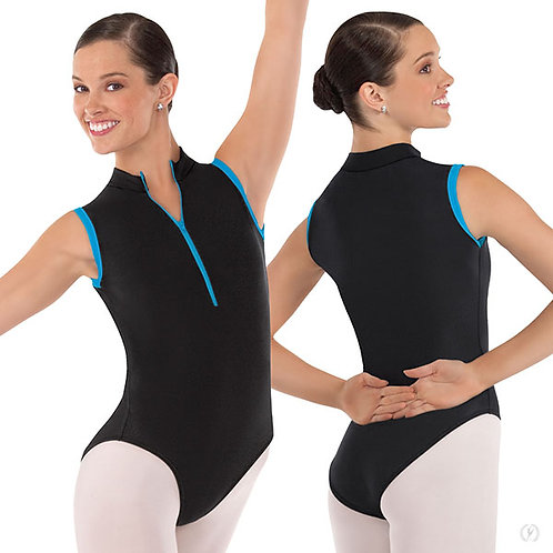 Women's Full Back Zipper Front Leotard