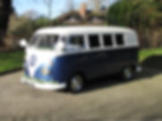 Something Blue Wedding Car Hire VW Splitscreen 'Blue', tel: 01903 774909 / 0787 6020447