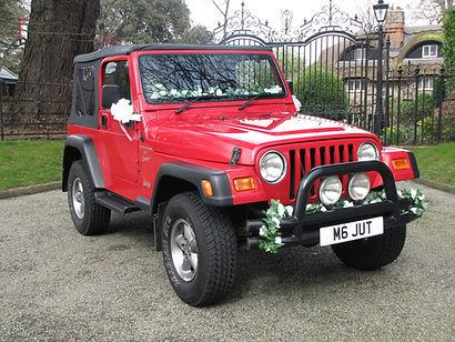 Something Blue Wedding Car Hire Jeep Wrangler 'Thelma' w