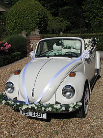 Wedding Car Hire Sussex Vintage VW Beetle front image Angmering