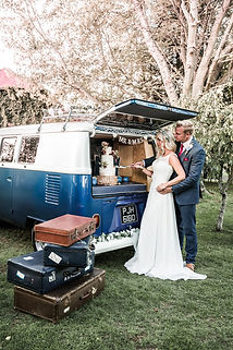 Wedding Car Hire Sussex Vintage VW Splitscreen Bus rear image Selden Barns