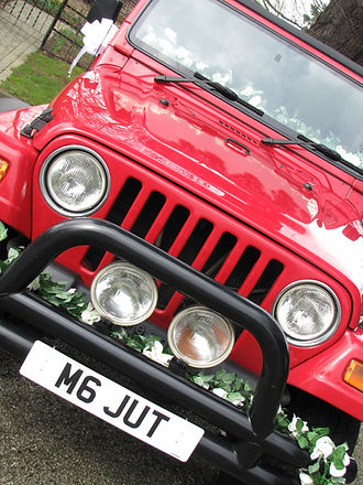 Something Blue Wedding Car Hire Jeep Wrangler 'Thelma', tel: 01903 774909 / 0787 6020447