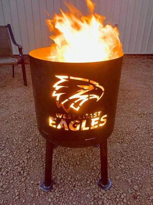 Eagles fire drum lit up.jpg