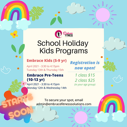 2021 EASTER SCHOOL HOLIDAY PROGRAM - POS