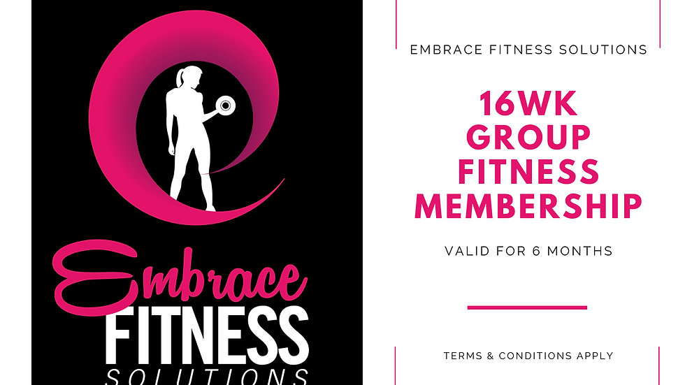 Embrace - Gift Certificate - 16wk Group Fitness Membership