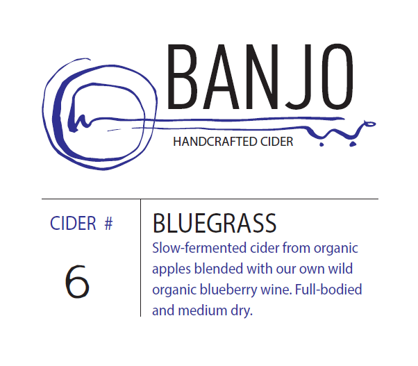 #6 - Bluegrass: Traditional cider blended with our blueberry wine (750 mL)