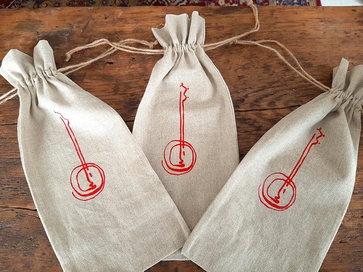 Silkscreened Linen Giftbag