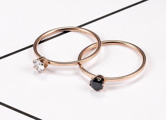 Single Diamond Fine Ring