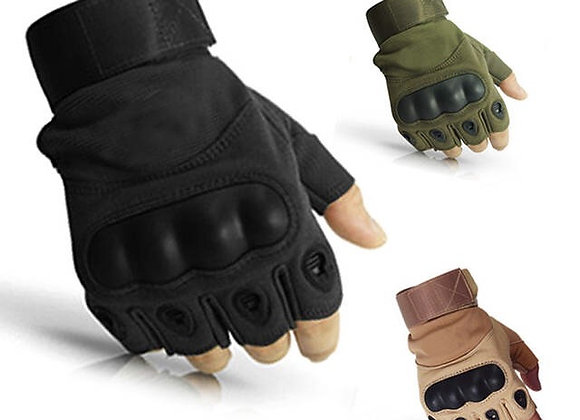 Tactical Hard Knuckle Half Finger Gloves