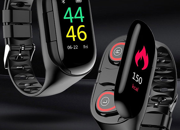 Smart Watch with Bluetooth Earphone