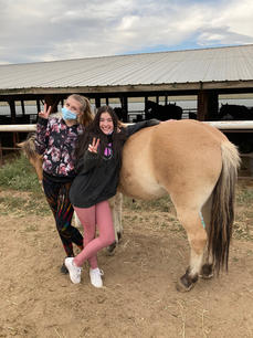 Posing with a horse
