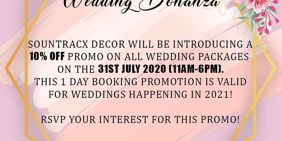July Wedding Promotion