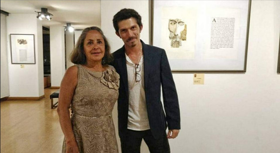Junto a Berenice Guyasamín