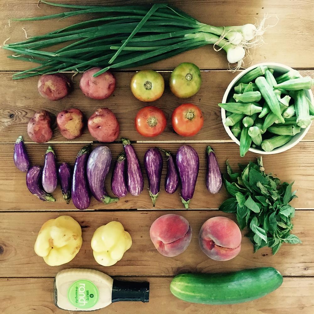 CSA Bounty from Hollygrove Market & Farm