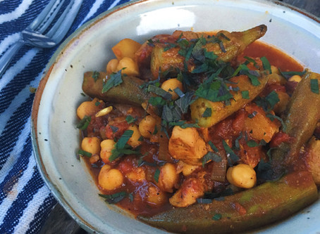 Moroccan Chicken and Okra Stew