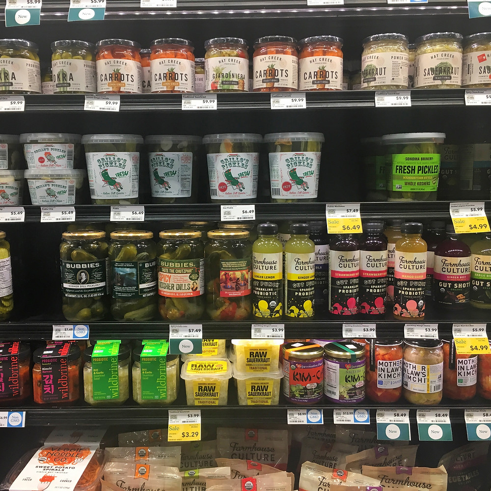 fermented food grocery store gut health