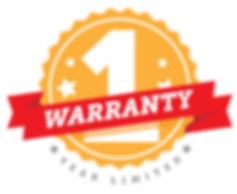 One year warranty graphic