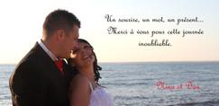 Remerciements mariage au bord de l'eau