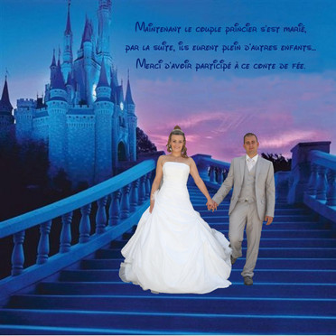 Remerciements mariage, thème Disney